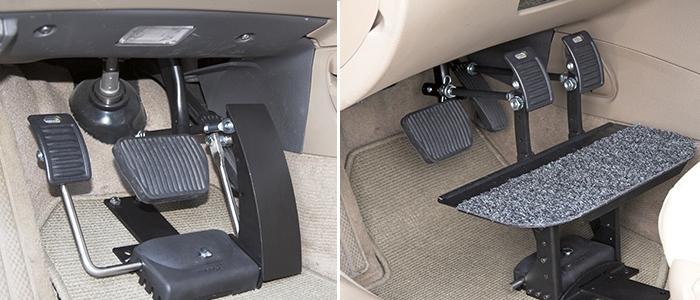 Left Foot Accelerator and pedal extensions